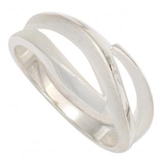 Damen Ring 925 Sterling Silber rhodiniert mattiert Silberring