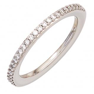Damen Ring 585 Gold Weißgold 26 Diamanten Brillanten 0, 21ct. Weißgoldring