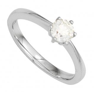 Damen Ring 585 Gold Weißgold 1 Diamant Brillant 0, 10ct. Diamantring Goldring