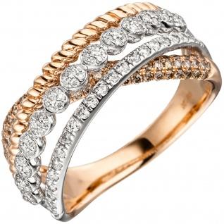 Damen Ring 585 Gold Rotgold 181 Diamanten Brillanten Rotgoldring Diamantring