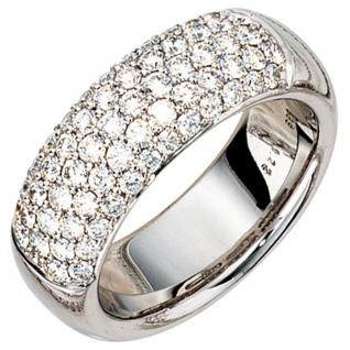 Damen Ring 585 Gold Weißgold 62 Diamanten Brillanten 1, 22ct. Weißgoldring