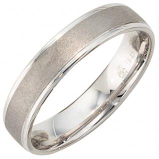 Partner Ring 925 Sterling Silber rhodiniert mattiert Silberring