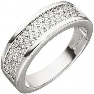 Damen Ring 925 Sterling Silber 53 Zirkonia Silberring
