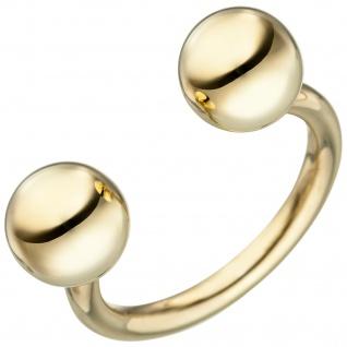 Damen Ring Kugel Kugeln 925 Sterling Silber gold vergoldet Kugelring offen