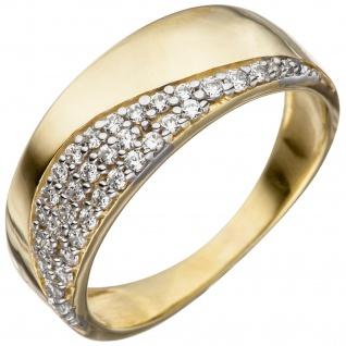 Damen Ring 333 Gold Gelbgold mit Zirkonia Goldring