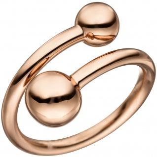 Damen Ring offen 925 Sterling Silber rotgold vergoldet