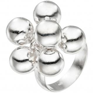 Damen Ring Kugel 925 Sterling Silber Silberring mit beweglichen Kugeln