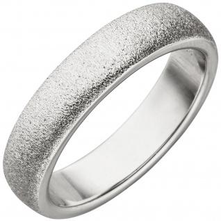 Damen Ring 925 Sterling Silber mit Struktur Silberring