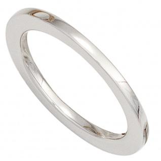 Damen Ring 585 Gold Weißgold Weißgoldring schmal schlicht