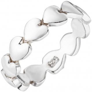 Damen Ring Herz Herzen 925 Sterling Silber Silberring Herzring