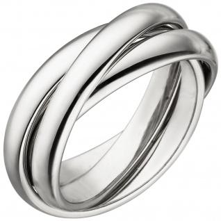 Damen Ring verschlungen aus 3 Ringen 925 Sterling Silber