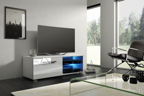 TV Board Lowboard Unterschrank Sideboard MOON matt oder hochglanz 100 cm