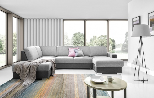 Sofa Couchgarnitur Couch CHANTAL ol+2f+osbp Polsterecke Wohnlandschaft