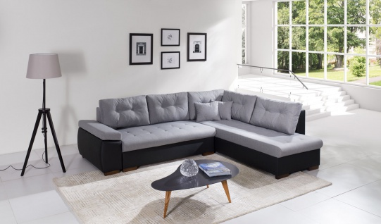 Couchgarnitur RAVENNA 2 L Sofa Couch Sofagarnitur Polsterecke Schlaffunktion