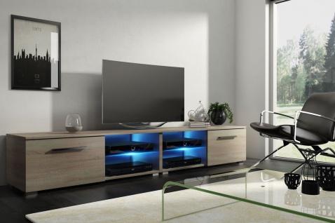 TV Board Lowboard Unterschrank Sideboard MOON matt oder hochglanz 200 cm