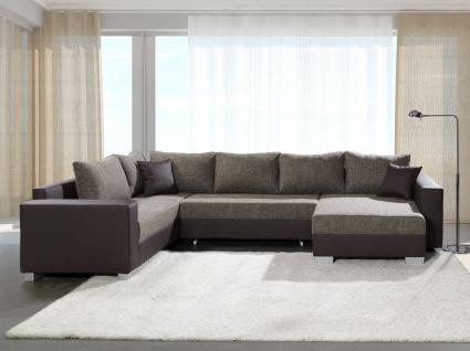 Couchgarnitur Sofa Garnitur Bettcouch Schlafsofa PUEBLA mit Schlaffunktio