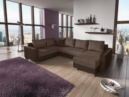 Couchgarnitur Couch Garnitur Sofa STY. 8 U Schlaffunktion Wohnlandschaft