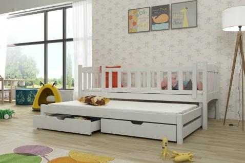Kinderbett Doppelbett AMELIA 80x180 unschädlich lackiert, diverse Farbauswahl
