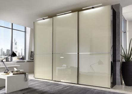 Kleiderschrank SHANGHAI B 300 H 236 cm 3x LED Schwebetüren Schrank Schlafzimmer