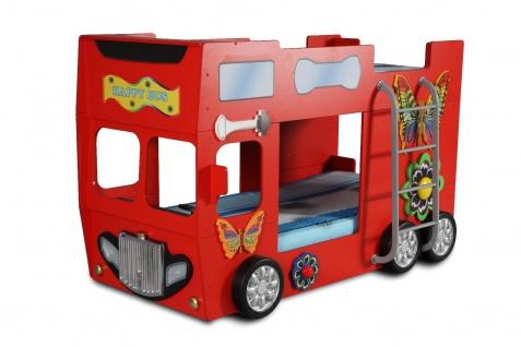Kinderzimmer Bett Kinderbett Etagenbett Kinderbett HAPPY BUS 90x190 cm