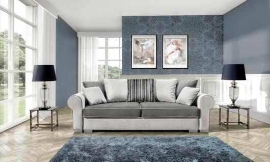 Couchgarnitur DELUXE SOFA Sofa Eckcouch Polstergarnitur Schlaffunktion Couch
