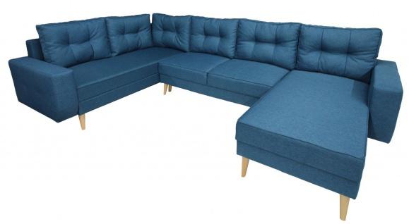 Couch Garnitur Ecksofa Sofagarnitur Sofa VINCENT U Schlaffunktion Wohnlandschaft