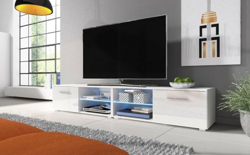 Sideboard Lowboard TV Fernsehschrank MOON double 200 Kommode inkl LED Highboard