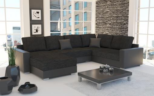 Couch Garnitur Ecksofa Sofagarnitur Sofa STY. 3 U Wohnlandschaft Schlaffunktion