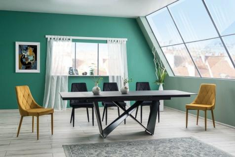 Esstisch Wohnzimmertisch Tisch CAVALI 1 90x160/240 cm Glass Platte gehärtet