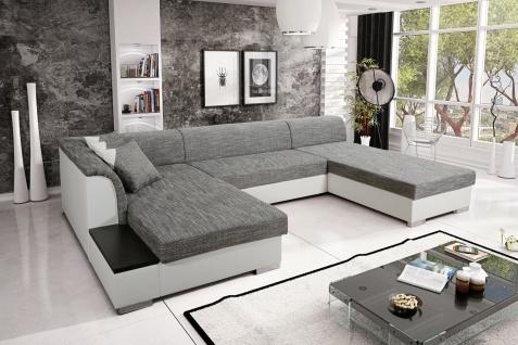 Sofa Couchgarnitur Couch KRETA 4 Polsterecke Wohnlandschaft mit Schlaffunktion