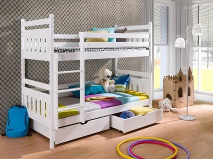 Etagenbett Hochbett Kinderbett Doppelbett ADAM NEW 90x200 unschädlich lackiert