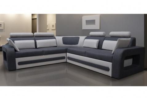 Couch Couchgarnitur Sofa Polsterecke BE 02 L Wohnlandschaft Schlaffunktion