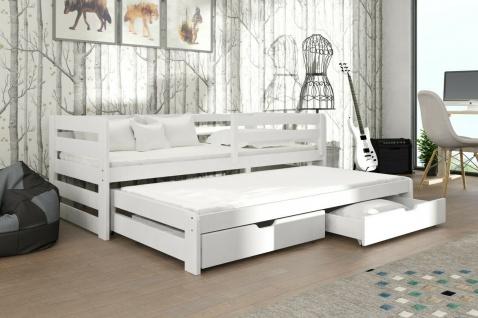 Kinderbett mit Ausziehbett Doppelbett Jugendbett SENSEO Lieferzeit ca 1-3 Wochen