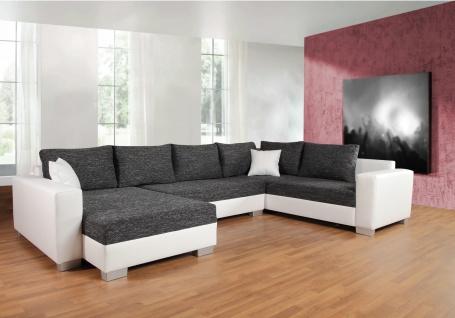 Couch Couchgarnitur Sofa Garnitur Schlafsofa PUEBLA mit Schlaffunktion U Form