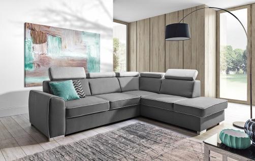 Couchgarnitur Couch DAVOS Sofa Polsterecke Wohnlandschaft mit Schlaffunktion