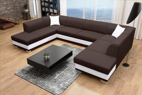 Couch Sofa Couchgarnitur Darco U Polesterecke mit Schlaffunktion Wohnlandschaft