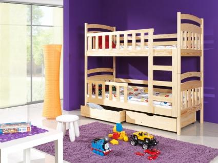 Etagenbett Hochbett Kinderbett Doppelbett LILLI 90x200 unschädlich lackiert