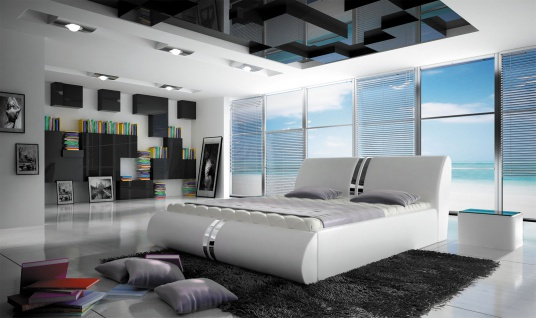 CALISTO Doppelbett Schlafzimmerbett Lattenrost Bettkasten Polster Bett 140x200