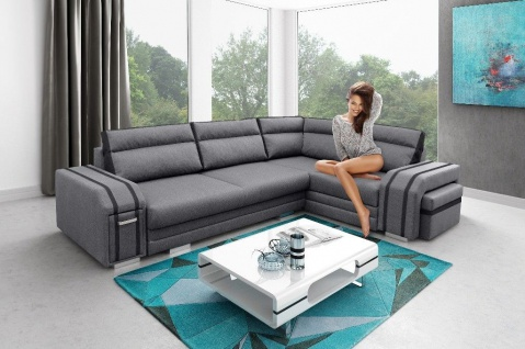 Couch Sofa Couchgarnitur AVATAR Polesterecke mit Schlaffunktion Wohnlandschaft