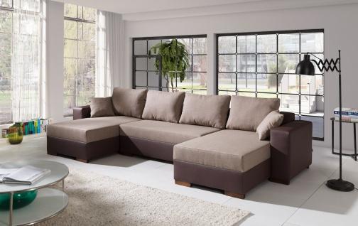 Couch Couchgarnitur Sofa Polsterecke 4112200/2 U Wohnlandschaft Schlaffunktion