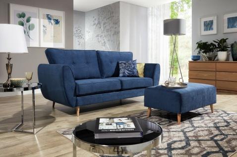 AMELIA 2 er Sofa mit Hocker Couchgarnitur Couch Polster Sofa Wohnlandschaft NEU