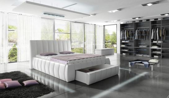 Polsterbett ROMA Doppelbett Design Bettgestell mit Lattenrost Bett 160 x 200 cm