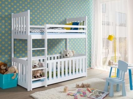 Etagenbett Hochbett Kinderbett Doppelbett CHRIS 90x200 unschädlich lackiert