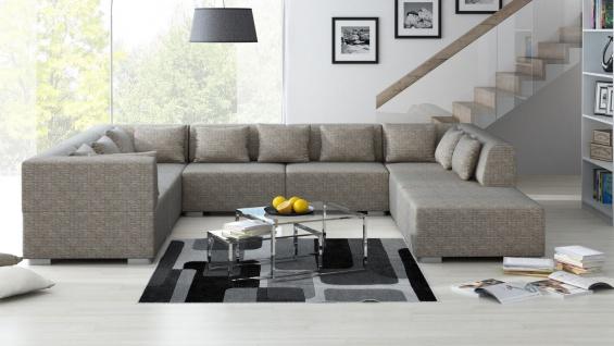 Wohnlandschaft SUPERMAX 8 Teile Sofa Garnitur Couch Couchgarnitur Polsterecke