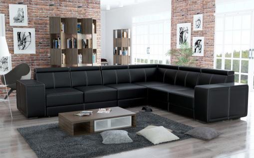 Couchgarnitur Couch Garnitur Sofa CARI Polsterecke Wohnlandschaft