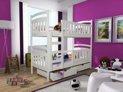 Etagenbett Hochbett Kinderbett Doppelbett PETER 2 80x180 cm unschädlich lackiert