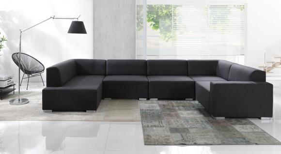 COUCH CUBIC 5 TEILE Couchgarnitur Wohnlandschaft Big Sofa Modulsofa Polsterecke