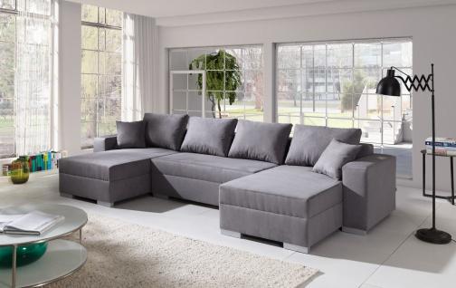 Couch Couchgarnitur Sofa Polsterecke 4112200/5 U Wohnlandschaft Schlaffunktion