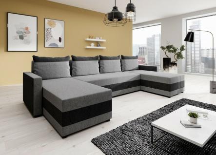 Couch Garnitur Ecksofa Sofagarnitur Sofa VERA Schlaffunktion Wohnlandschaft NEU