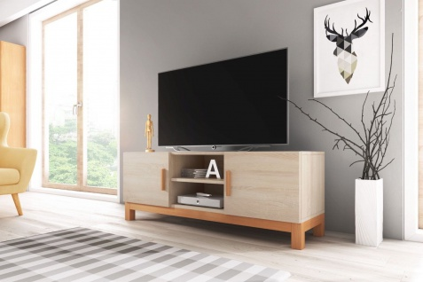 TV Board Lowboard Unterschrank Sideboard NORGE matt oder hochglanz 140 cm